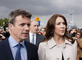 Denmark Prince Frederik and Princess Mary visit Poland — Stock Photo
