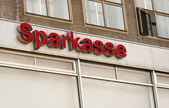 The logo of the German bank Sparkasse — Stock Photo