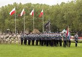 폴란드어 경찰 퍼레이드 준비 — Stok fotoğraf