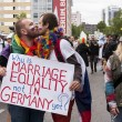 Unidentified gays kissing during Gay pride parade — Stock Photo #48467823