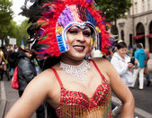 Elaborately dressed transgender during parade — Stock Photo