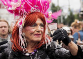 Unidentified older transgender during Gay pride. — Stock Photo