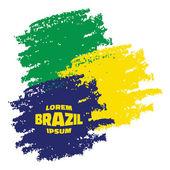 Grunge Smears, using Brazil flag colors — Stock Vector