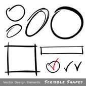 Set of Hand Drawn Scribble Shapes — Stock Vector