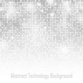 Abstract Gray Technology Glow Background — Stock Vector