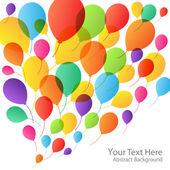 Balloons Background, vector illustration — Stock Vector