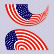 Set of stylish american flags. — Stock Vector #48171549