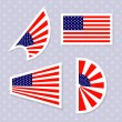 Set of stylish american flags. — Stock Vector #48171563
