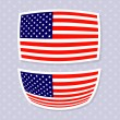 Set of stylish american flags. — Stock Vector #48171627