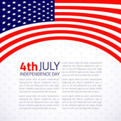 Stylish american Independence day design. — Stock Vector