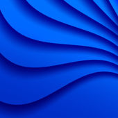 Blue Wavy Background. — Stock Vector