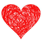 Hand drawn heart — Stock Vector