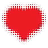 Red Heart Halftone — Stock Vector