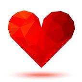 Red 3d valentine heart — Vector de stock