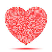 Icono del corazón pixel — Vector de stock