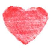 Red Felt Pen Heart — Stock Vector