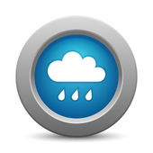 Cloud button, vector illustration — Stock Vector