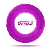 Hand drawn watercolor purple circle — Stock Vector