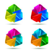 Set of colorful arrows icons — Stock Vector