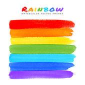 Rainbow Watercolor Brush Smears — Stock Vector