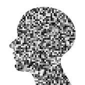Pixeated profile icon — Vector de stock