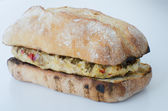 Italian chicken burger isolated — ストック写真