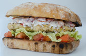 Italian chicken burger isolated — 图库照片