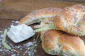 Bread roll and bun from small bakery — Foto de Stock