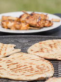 Grilled chicken skewers — Stock fotografie