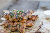 Grilled chicken skewers — Foto de Stock