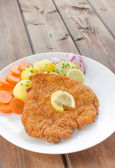 German schnitzel — Stockfoto