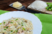 Italien risotto with mushrooms — Stok fotoğraf