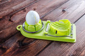 Boiled egg slicer — Zdjęcie stockowe