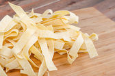 Fresh pasta pappardelle — Stock Photo