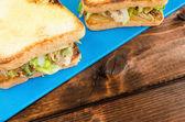 Chicken sandwich — Stock Photo