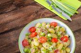 Gnocchi pasta with Black forest ham — Stock Photo