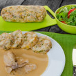 Chicken in cream sauce with dumplings — Stock Photo #51683313