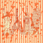Sketch Eifel tower, Pisa tower, Big Ben and Statue of Liberty, v — Stock Vector #46554999