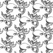 Sketch octopus, vector vintage seamless pattern — Stock Vector