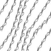 Sketch tulip, vector vintage seamless pattern — Stock Vector