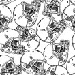 Sketch football helmet, vector seamless pattern — Stock Vector #49528583