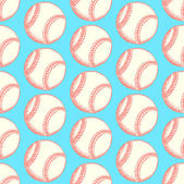 Sketch baseball ball, vector  seamless pattern — Stock Vector