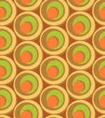 Circles and swirls vintage seamless pattern — Vector de stock