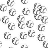 Sketch baseball ball, vector seamless pattern — Stock Vector