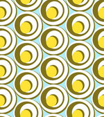 Circles and swirls  seamless pattern — Vecteur