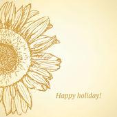 Sketch sunflower — Stock Vector