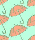 Vintage umbrella in sketch style — Cтоковый вектор