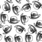 Sketch retro gentlemen hat — Stock Vector