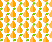 Seamless pattern with flat cute pear — Stock Vector