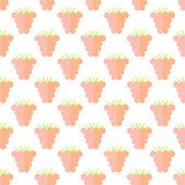 Plat raspberry schattig naadloze patroon — Stockvector